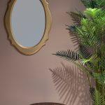 Prachtige spiegel hout